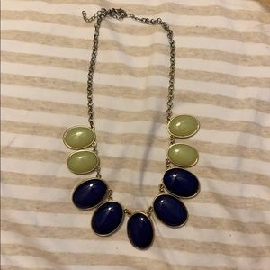 Light lime green/blue statement necklace